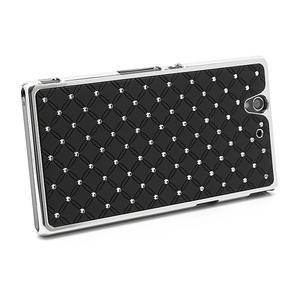 Drahokamovej puzdro pre Sony Xperia Z L36i C6603- čierné - 2