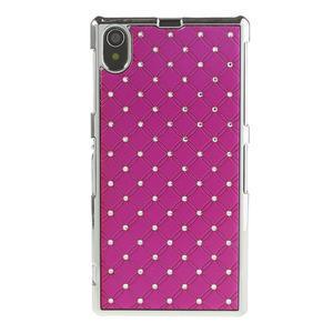 Drahokamové pouzdro na Sony Xperia Z1 C6903 L39-růžové - 2