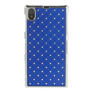 Drahokamovej puzdro pre Sony Xperia Z1 C6903 L39- modré - 2