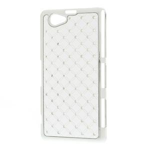 Drahokamovej puzdro pre Sony Xperia Z1 Compact D5503- biele - 2