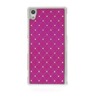 Drahokamovej puzdro pre Sony Xperia Z2 D6503- ružové - 2