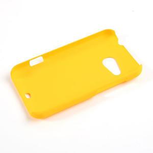Pogumované puzdro pre HTC Desire 200- žlté - 2