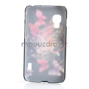 Plastové puzdro pre LG Optimus L5 Dual E455- Motýl a květ - 2