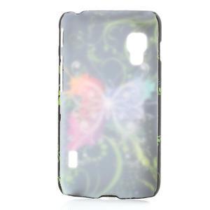 Plastové puzdro pre LG Optimus L5 Dual E455- vlající motýľ - 2