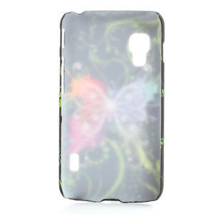 Plastové puzdro pre LG Optimus L5 Dual E455- vlající motýl - 2