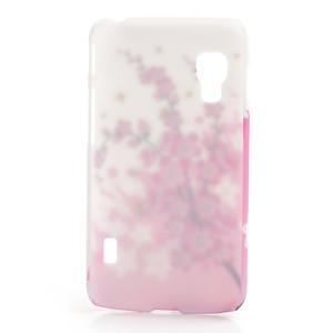 Plastové puzdro pre LG Optimus L5 Dual E455- kvitnúce vetvička - 2