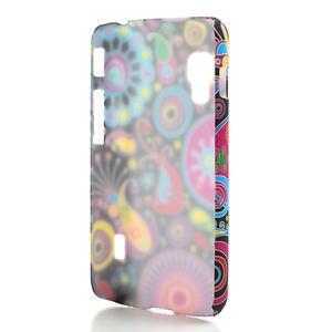 Plastové puzdro pre LG Optimus L5 Dual E455- farebné vzory - 2