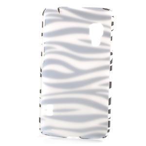 Plastové puzdro pre LG Optimus L5 Dual E455- zebra - 2