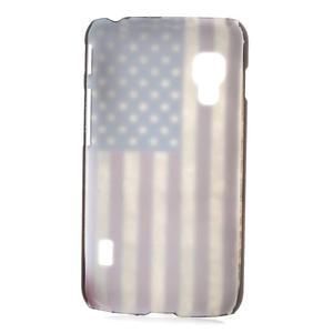Plastové puzdro pre LG Optimus L5 Dual E455- USA vlajka - 2