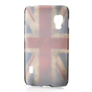 Plastové puzdro pre LG Optimus L5 Dual E455-UK vlajka - 2