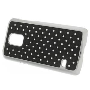 Drahokamové pouzdro na Samsung Galaxy S5 mini G-800- černé - 2