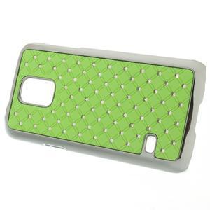Drahokamové puzdro pre Samsung Galaxy S5 mini G-800- zelené - 2