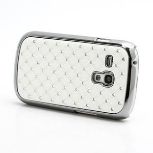 Drahokamové puzdro pre Samsung Galaxy S3 mini i8190- biele - 2