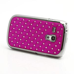 Drahokamové puzdro pre Samsung Galaxy S3 mini i8190- ružové - 2