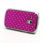 Drahokamové puzdro pre Samsung Galaxy S3 mini i8190- ružové - 2/4