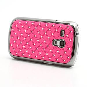 Drahokamové puzdro pre Samsung Galaxy S3 mini i8190- světle-růžové - 2