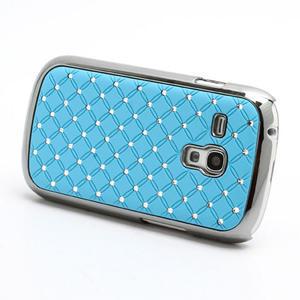 Drahokamové puzdro pre Samsung Galaxy S3 mini i8190- svetlo-modré - 2