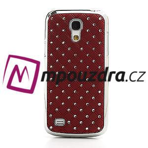 Drahokamové pouzdro pro Samsung Galaxy S4 mini i9190- červené - 2