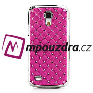 Drahokamové pouzdro pro Samsung Galaxy S4 mini i9190- růžové - 2