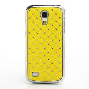 Drahokamové puzdro pro Samsung Galaxy S4 mini i9190- žlté - 2