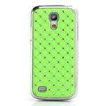 Drahokamové puzdro pro Samsung Galaxy S4 mini i9190- zelené - 2/5