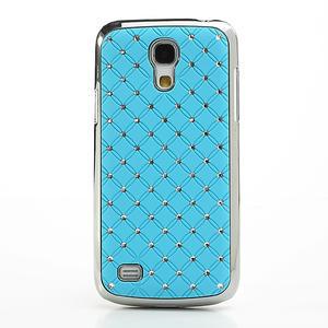 Drahokamové puzdro pro Samsung Galaxy S4 mini i9190- svetlomodré - 2
