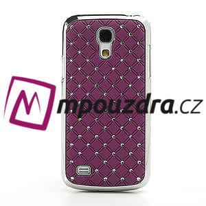 Drahokamové puzdro pro Samsung Galaxy S4 mini i9190- fialové - 2