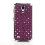 Drahokamové puzdro pro Samsung Galaxy S4 mini i9190- fialové - 2/5
