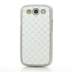 Drahokamové puzdro pre Samsung Galaxy S3 i9300 - biele - 2