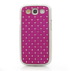 Drahokamové puzdro pre Samsung Galaxy S3 i9300 - ružové - 2