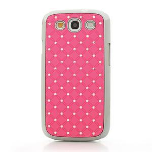 Drahokamové puzdro pre Samsung Galaxy S3 i9300- světle-růžové - 2