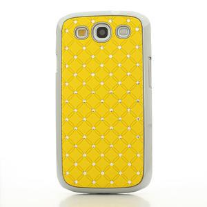 Drahokamové puzdro pre Samsung Galaxy S3 i9300 - žltá - 2