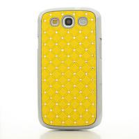 Drahokamové puzdro pre Samsung Galaxy S3 i9300 - žltá - 2/5