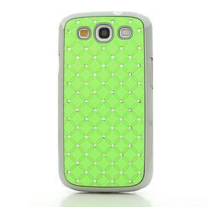 Drahokamové puzdro pre Samsung Galaxy S3 i9300 - zelené - 2