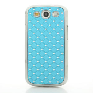 Drahokamové puzdro pre Samsung Galaxy S3 i9300 - světlě-modré - 2