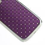 Drahokamové puzdro pre Samsung Galaxy S3 i9300 - fialové - 2/5