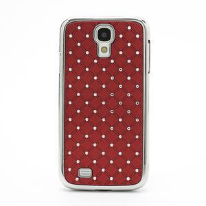 Drahokamové puzdro pro Samsung Galaxy S4 i9500- červené - 2
