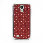 Drahokamové puzdro pro Samsung Galaxy S4 i9500- červené - 2/7