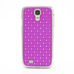 Drahokamové pouzdro pro Samsung Galaxy S4 i9500- růžové - 2