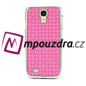 Drahokamové pouzdro pro Samsung Galaxy S4 i9500- světle-růžové - 2
