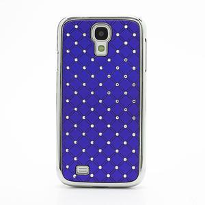 Drahokamové puzdro pro Samsung Galaxy S4 i9500- modré - 2
