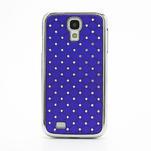 Drahokamové puzdro pro Samsung Galaxy S4 i9500- modré - 2/7