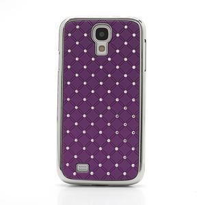 Drahokamové pouzdro pro Samsung Galaxy S4 i9500- fialové - 2