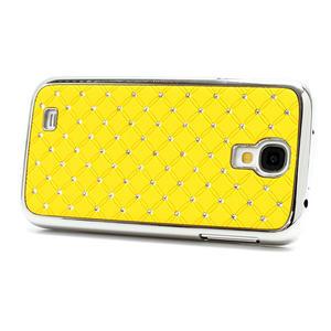 Drahokamové puzdro pro Samsung Galaxy S4 i9500- žlutá - 2
