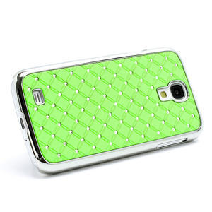 Drahokamové pouzdro pro Samsung Galaxy S4 i9500-zelené - 2