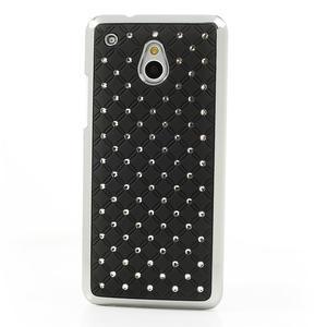 Drahokamové puzdro pre HTC one Mini M4- čierné - 2