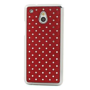 Drahokamové puzdro pre HTC one Mini M4- červené - 2