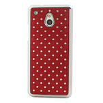 Drahokamové puzdro pre HTC one Mini M4- červené - 2/5
