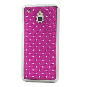 Drahokamové puzdro pre HTC one Mini M4- ružové - 2