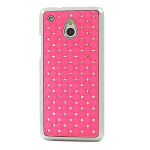 Drahokamové puzdro pre HTC one Mini M4- svetloružové - 2